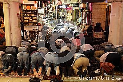 Praying muslims in Turkey Editorial Stock Image