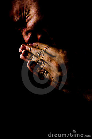 Praying in pain and dakness