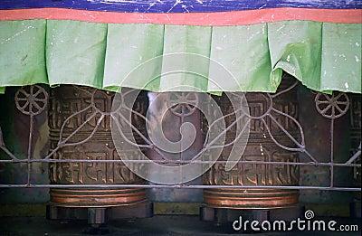 Praying wheel, Bodnath, Nepal