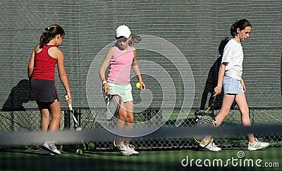 Práctica del tenis