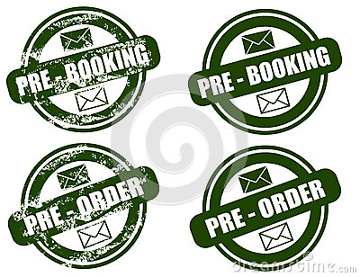 Pre Booking / Order grunge stamp set