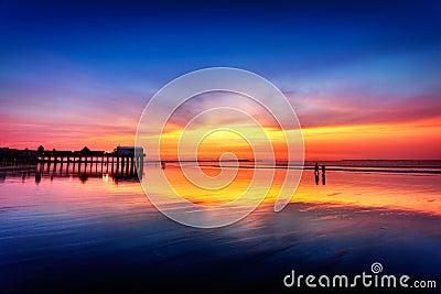 Pre-dawn skies at Old Orchard Beach