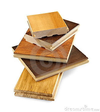 Pre-finished hardwood floor samples