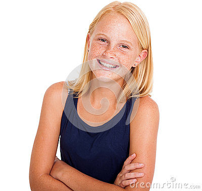 Pre teen girl