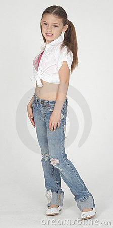 pre teen girl modeling clothes royalty free stock images