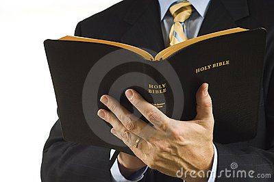 Preacher with Bible