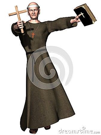 Preaching monk