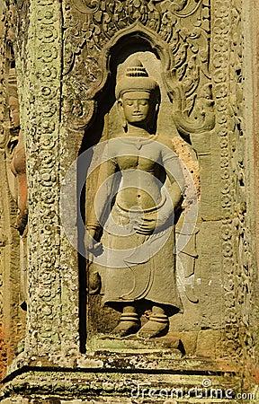 Preah Khan Temple Apsaras Statues