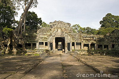 Preah Khan temple entrance, Angkor, Cambodia