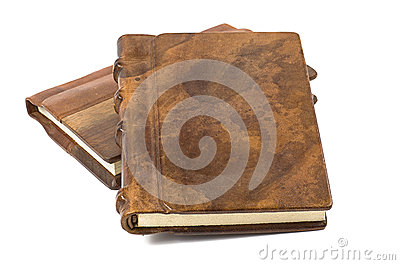 Precious book with a noble leather and wooden cove