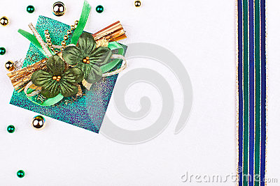 Precious greeting card with flowers