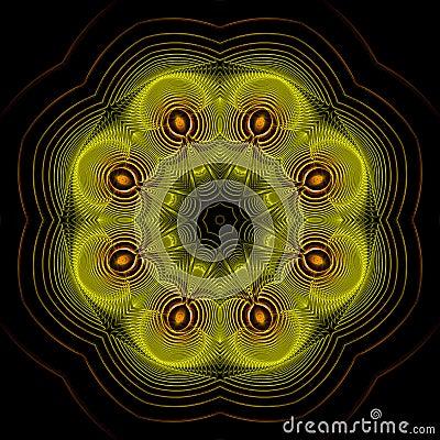 Precious wire star mandala