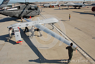 Predator Drone on display Editorial Photography