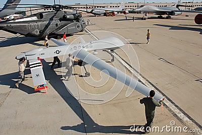Predator Drone on display Editorial Photography