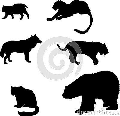 Predator silhouettes set