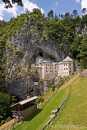 Predjama castle in the rock