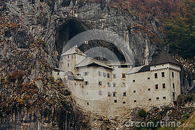 Predjama Castle in Slovenia Editorial Stock Image