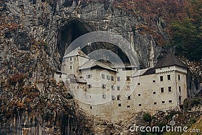 Predjama Castle in Slovenia Editorial Stock Image