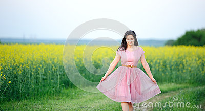 Preety girl dressed in pink