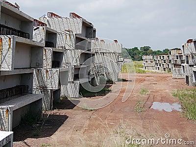 Prefab concrete blocks