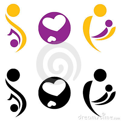 Pregnancy and motherhood symbol.