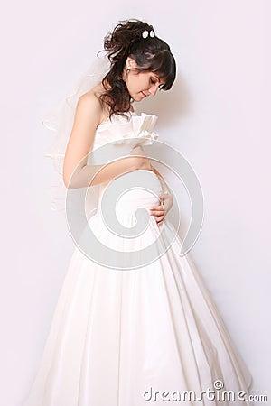 Free Pregnant Bride Stock Image - 23494091