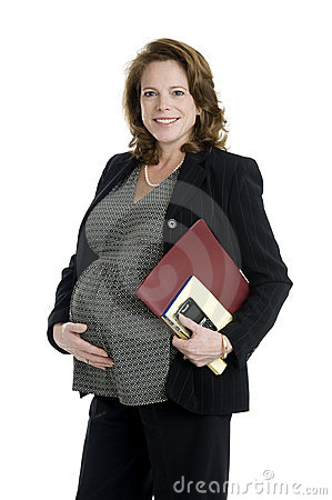 Free Pregnant Business Woman Stock Photo - 17676920