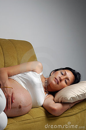 Pregnant Chinese Sleeping Royalty Free Stock Images ...