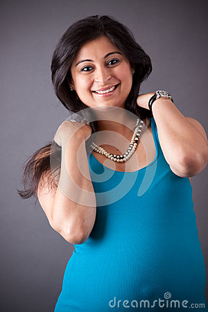 Pregnant East Indian Woman