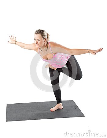 pregnant fitness woman make stretch on yoga and pilates