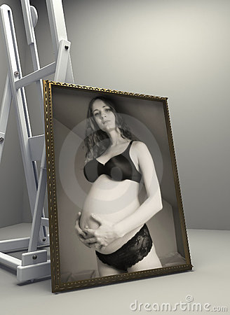 Pregnant girl in diffuse light 2