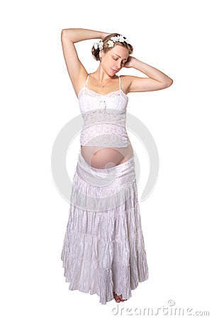 Free Pregnant Girl In Bright Colors Stock Photos - 27768703