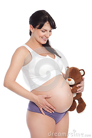 Pregnant and happy