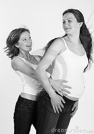 Pregnant and her friend