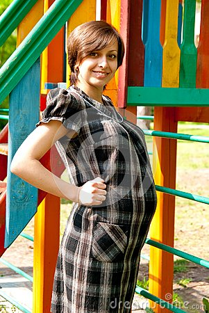 Pregnant on playground