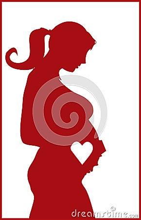 Pregnant silhouette
