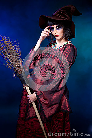 Pregnant Witch Halloween Stock Photos Image 27201703
