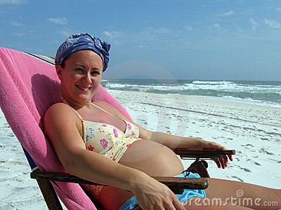 Pregnant Woman on Beach