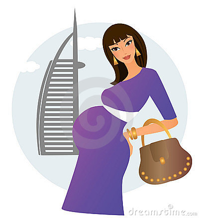 Pregnant woman in Dubai