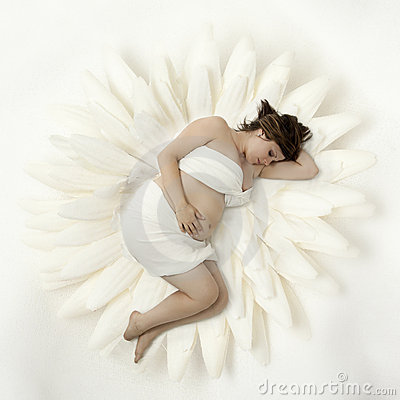 Pregnant woman dreaming