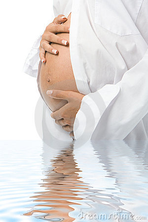 Free Pregnant Woman Holding Her Belly Royalty Free Stock Images - 4874749