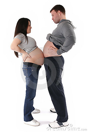 Pregnant woman with husband