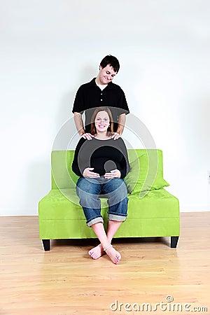 Pregnant woman massage