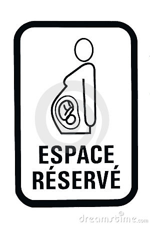 Pregnant woman parking sign
