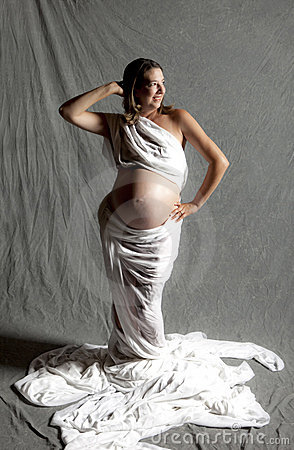 Pregnant woman, studio shot