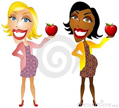Pregnant Women Holding Apples