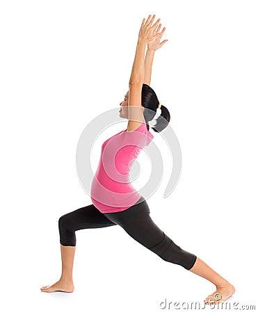 pregnant yoga pose royalty free stock photo  image 34153105