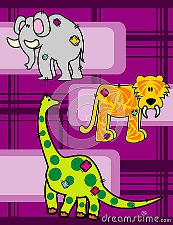 prehistoric animals vector