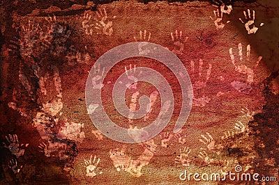 Prehistoric Hand Prints