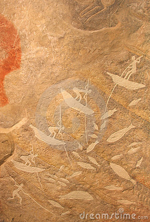 Prehistoric hunting paint